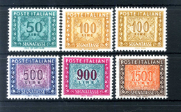 1984-2000 REP. IT. SEGNATASSE 121/125 + 122A SERIE COMPLETA MNH ** - 6. 1946-.. Repubblica