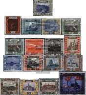 Saar 53-69 (complete Issue) With Hinge 1921 Landscapes - Unused Stamps