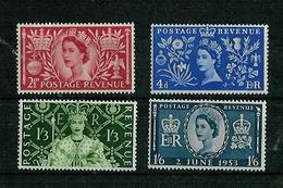 Grande Bretagne - Great Britain - Großbritannien 1953 Y&T N°279 à 282 - Michel N°274 à 277 *** - Couronnement Reine Elis - 1952-.... (Elizabeth II)