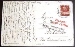 Schweiz Suisse 1918: Bildkarte Mit Zu 126II Mi 118II Yv 138 O ARBON 3. I.18 MILANO POSTA ESTERE VERIFIZATO PER CENSURA - Suisse