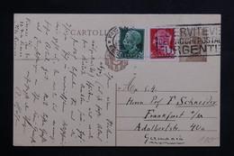 ITALIE - Entier Postal + Complément De Firenze Pour L 'Allemagne En 1930 - L 22275 - 1900-44 Vittorio Emanuele III