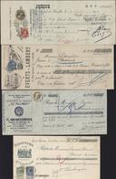 Belgique 4 Traites Avec Timbres Poste Pour Fiscal YT 1 : 74 + 75 / 2 : 60 / 3 : 75 / 4 : 56 + 60 Pub Coloniale Vinicole - Revenue Stamps