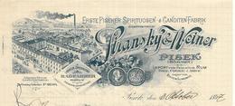 République Tchèque - Pisek ( Böhmen) - Entête Du 3 Octobre 1897 - Stransky & Weiner - Liqueur Import Rhum Thee Cognac - Factures & Documents Commerciaux