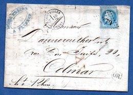 Facture De Badonviller  - Pour Colmar  -  10/6/1869  - Entre Fenal Frères - Postmark Collection (Covers)