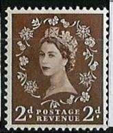 Grande Bretagne - Great Britain - Großbritannien 1952-54 Y&T N°265- Michel N°260 Nsg - 2p Reine Elisabeth II - 1952-.... (Elizabeth II)