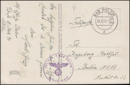 Feldpost Reserve-Lazarett Bad Polzin Auf Ansichtskarte BAD POLZIN 24.2.40 - Occupation 1938-45