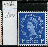 Grande Bretagne - Great Britain - Großbritannien 1952-54 Y&T N°263 - Michel N°258 Nsg - 1p Reine Elisabeth II - 1952-.... (Elizabeth II)