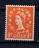 Grande Bretagne - Great Britain - Großbritannien 1952-54 Y&T N°262 - Michel N°257 Nsg - 0,5p Reine Elisabeth II - 1952-.... (Elizabeth II)