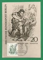 Berlin 1969  Mi.Nr. 334 , Briefmarken Des 19. Jahrhundert - Adolpf V. Menzel - Maximum Card - Stempel Berlin  24.10.1969 - Maximumkarten (MC)