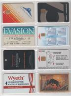 Seize CARTES De Publicité Et Professionnelles à Puce Et à Piste - T.B.E - Télécartes