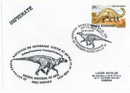 COV 26 - 1101 TELMATOSAURUS TRANSSYLVANICUS, Romania - Cover - Used - 2002 - Prehistory