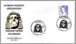MASCARA DE TEATRO Epoca Adriano - THEATER MASK. Castiglioncello, Livorno, 2011 - Arqueología