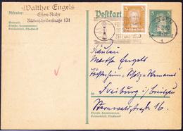 Deutsches Reich German Empire Empire Allemand -  Ganzsache  P170 Mit Zusatzfrankatur  MiNr: 386 Vom 26.2.30 - Postwaardestukken