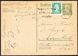 Deutsches Reich German Empire Empire Allemand -  Ganzsache  P180 Mit Zusatzfrankatur  MiNr: 387 Vom 9.11.28 - Postwaardestukken