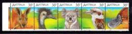 Australia 1986 Wildlife 36c Strip Of 5 Used - - 1980-89 Elizabeth II