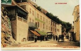8641 - Isére - LES GRANDS GOULETS : ARRIVEE DU CAR ALPIN A LA BARRAQUE (Vercors) Circulée En 1909 - Altri Comuni