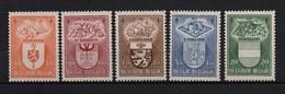 756/60 Wapenschilden Postfris** 1947 Cat: 32 Euro - Bélgica