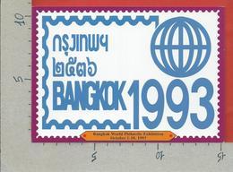 THAILANDIA - 1993 CARTOLINA NV - BANGKOK WORLD PHILATELIC EXHIBITION - Borse E Saloni Del Collezionismo