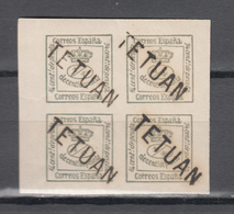 Spanish Post In Morocco 1877,4V In 4block,with Ovpt TETUAN,MNH/Postfris(A3693) - Spaans-Marokko