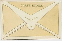 8656 - RARE  CARTE  ETOILE  - SOUVENIR   De  PARIS -  VUES LITHOGRAPHIEES - Voir Photos - Frankrijk