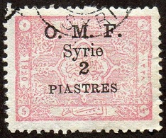 Syrie Obl. N°  78 - Timbre Du Royaume, Surcharge 2 Pi. Sur 5 M Rose - Syrie (1919-1945)