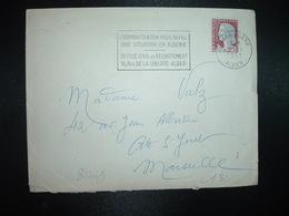 LETTRE TP M. DE DECARIS 0,25 OBL.MEC.21-11 1961 ALGER GARE ALGER L'ADMINISTRATION VOUS OFFRE UNE SITUATION EN ALGERIE - Algérie (1924-1962)