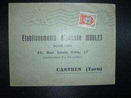 LETTRE TP ALGER 15F OBL.MEC.20 JANV 52 ALGER GARE ALGER - Algérie (1924-1962)