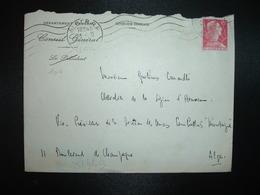 LETTR TP M. DE MULLER 15F OBL.MEC.21-9 1956 ALGER RP ALGER + CONSEIL GENERAL - Algérie (1924-1962)
