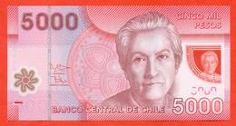 Chile  2014. 5000 Pesos. Plastic.UNC. - Chili