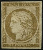 (*) N°1 10c Bistre - TB - 1849-1850 Ceres