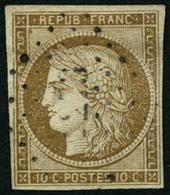 Oblit. N°1 10c Bistre - TB - 1849-1850 Ceres