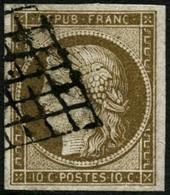 Oblit. N°1a 10c Bistre Brun - TB - 1849-1850 Ceres
