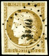 Oblit. N°1a 10c Bistre Brun, Signé JF Brun - TB - 1849-1850 Ceres