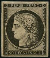 * N°3F 20c Noir, Réimp - TB - 1849-1850 Cérès