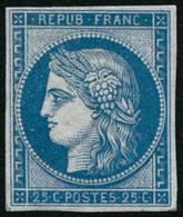 ** N°4d 25c Bleu, Réimp - TB - 1849-1850 Cérès
