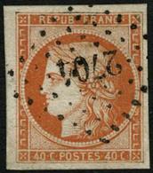 Oblit. N°5 40c Orange - TB - 1849-1850 Cérès