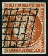 Oblit. N°5a 40c Orange Vif - TB - 1849-1850 Cérès