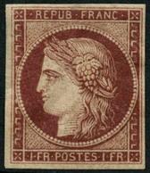* N°6 1F Carmin, Fraicheur Postale, Plusieurs Signatures Dont Calves - TB - 1849-1850 Cérès