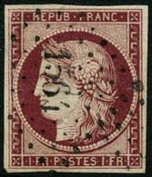 Oblit. N°6 1F Carmin Foncé - B - 1849-1850 Ceres
