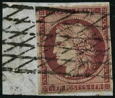 Oblit./fragment N°6 1F Carmin S/fragment - TB - 1849-1850 Cérès
