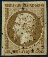 Oblit. N°9 10c Bistre, Pièce De Luxe - TB - 1852 Luigi-Napoleone