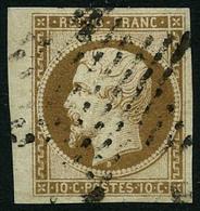 Oblit. N°9 10c Bistre - TB - 1852 Louis-Napoléon