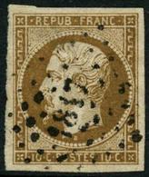 Oblit. N°9 10c Bistre - TB - 1852 Luigi-Napoleone