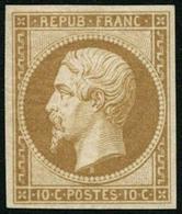* N°9e 10c Bistre, Réimp Quasi SC - TB - 1852 Louis-Napoleon