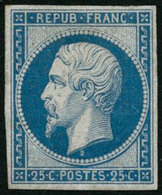 ** N°10c 25c Bleu, Réimp - TB - 1852 Luigi-Napoleone