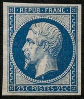 * N°10c 25c Bleu, Réimp - TB - 1852 Luigi-Napoleone