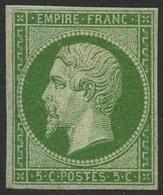 * N°12 5c Vert - TB - 1853-1860 Napoleone III