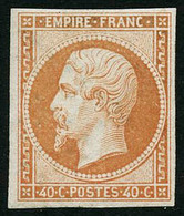 ** N°16 40c Orange, Signé Brun - TB - 1853-1860 Napoléon III
