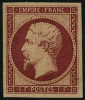 ** N°18d 1F Carmin, Réimp - TB - 1853-1860 Napoléon III