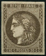 ** N°47 30c Brun, Signé Roumet - TB - 1870 Emission De Bordeaux